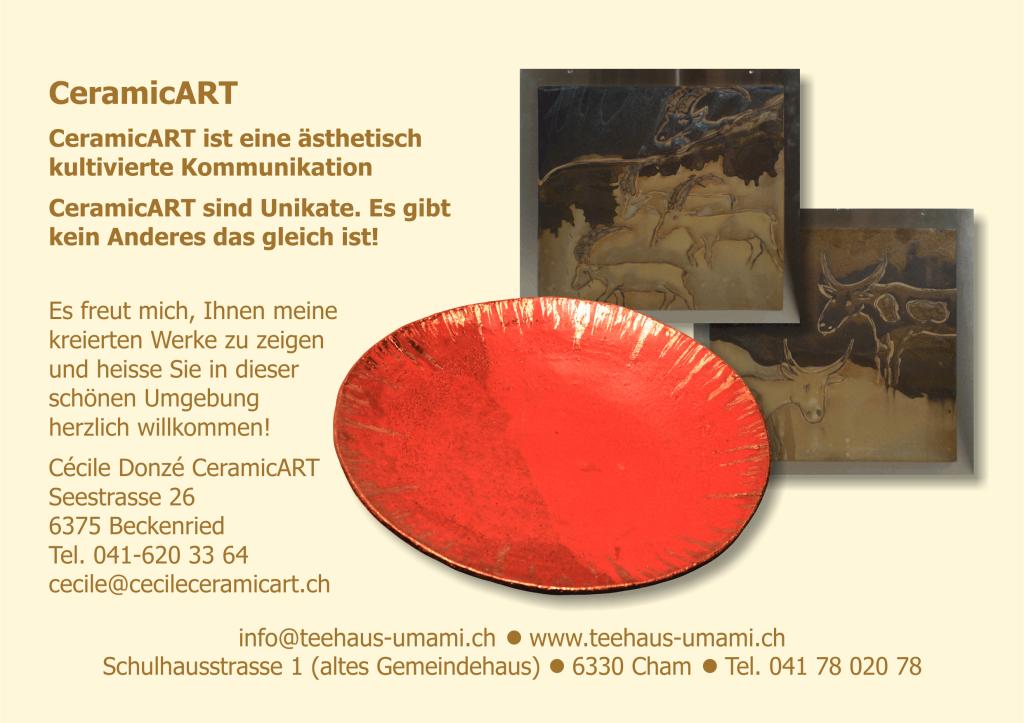 Werbeflyer Austellung CeramicART #2